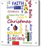Christmas Message  -  Typography Acrylic Print
