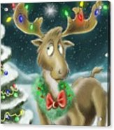 Christmas Moose Acrylic Print by Hank Nunes