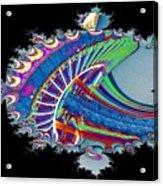 Christmas Needle In Fractal Acrylic Print