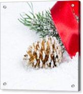 Christmas Objects On Snow  Acrylic Print