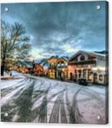 Christmas On Main Street Acrylic Print by Brad Granger