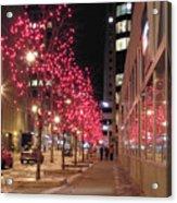 Christmas On Ottawa Street Acrylic Print by Richard Mitchell