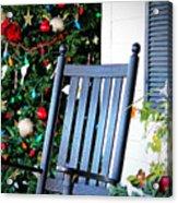 Christmas On The Porch Acrylic Print