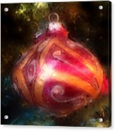 Christmas Ornaments Abstract Two Acrylic Print