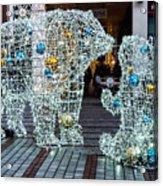 Christmas Polar Bears Acrylic Print
