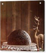 Christmas Pudding Acrylic Print