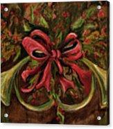 Christmas Red Ribbon Acrylic Print