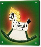 Christmas Rocking Horse Acrylic Print