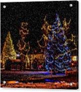 Christmas Snow Storm In Big Bear Acrylic Print