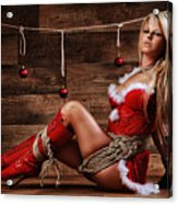Christmas Babe - Fine Art Of Bondage Acrylic Print by Rod Meier