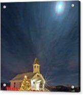 Christmas Time Full Moon Acrylic Print