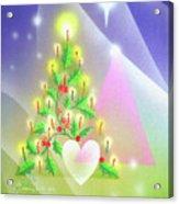 Christmas Tree And Colors Acrylic Print