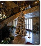 Christmas Tree And Staircase Marble House Newport Rhode Island Acrylic Print