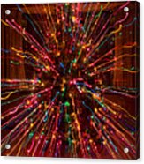 Christmas Tree Colorful Abstract Acrylic Print