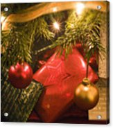 Christmas Tree Decorations And Gifts Acrylic Print