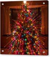 Christmas Tree Light Spikes Colorful Abstract Acrylic Print
