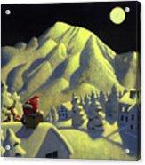 Christmas Under Olympus Acrylic Print
