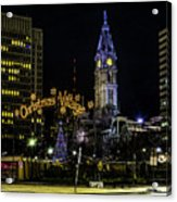Christmas Village - Philadelphia Acrylic Print