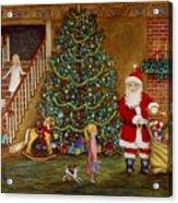 Christmas Visitor Acrylic Print by Linda Mears