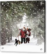 Christmas Walking Acrylic Print