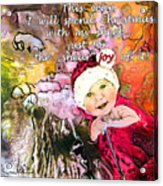 Christmas With My Sheep Acrylic Print