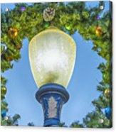 Christmas Wreath Lampost Acrylic Print