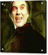 Christopher Lee, Dracula Acrylic Print