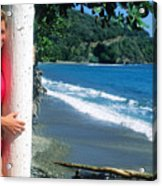Christy At The Beach Acrylic Print