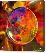 Chromatic Floral Sphere Acrylic Print