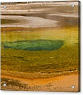 Chromatic Pool At Yellowstone Acrylic Print