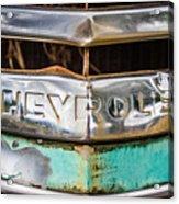 Chrome Chevrolet Acrylic Print