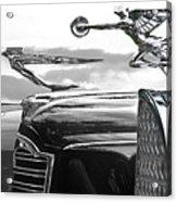 Chrome Hood Ornaments Vintage Cars Acrylic Print