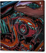 Chrome Leather And Power 1481 H_2 Acrylic Print
