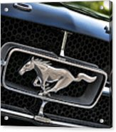 Chrome Stallion - Ford Mustang Acrylic Print