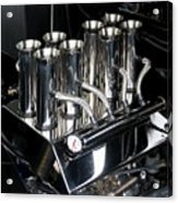 Chromed Fuel Injection Acrylic Print
