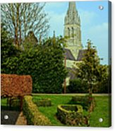 Church Garden Acrylic Print