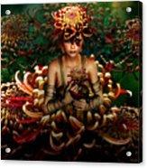 Chrysanthemum Bouquet 004 Acrylic Print
