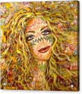 Chrysanthemum Girl Acrylic Print