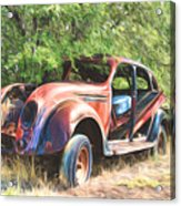 Chrysler Airflow Painterly Expression Acrylic Print