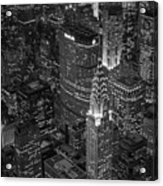 Chrysler Building Aerial View Bw Acrylic Print