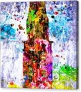 Chrysler Building Colored Grunge Acrylic Print