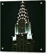 Chrysler Building In Manhattan New York City Acrylic Print