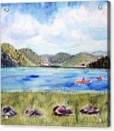 Chrystal Lake  Barton Vt  Acrylic Print