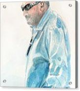 Chubby Chandler Watercolor Acrylic Print