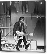 Chuck Berry B. 1926 On Stage, Playing Acrylic Print by Everett