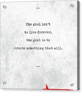 Chuck Palahniuk Quotes - Literary Quotes - Book Lover Gifts - Typewriter Quotes Acrylic Print