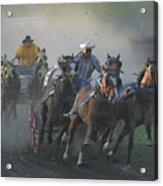 Chuckwagon Racing Acrylic Print