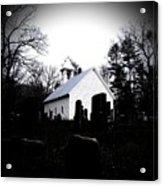 Church And Cemetary- Lens Acrylic Print