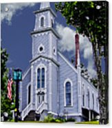 Church And Flag Acrylic Print