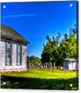 Church And Graveyard Acrylic Print